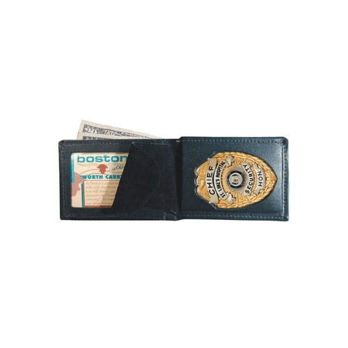 Boston Leather - BILLFOLD WALLET W/BRECESSED CP
