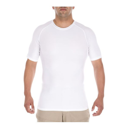 5.11 Tactical Tight Crew Short Sleeve Shirt - White - 2X Large