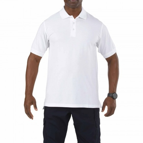 5.11 Tactical Professional Short Sleeve Polo - White - Large