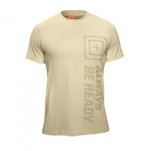 5.11 Tactical Recon Abr Logo T Short Sleeve - Bone - Large