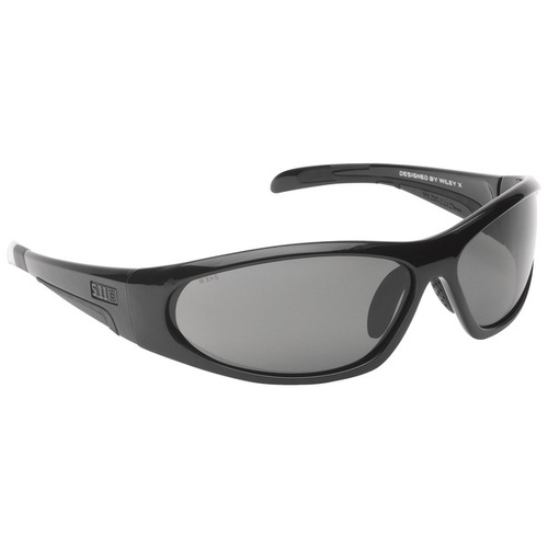 5.11 Tactical Ascend Polarized Eyewear designed by Wiley X - Black