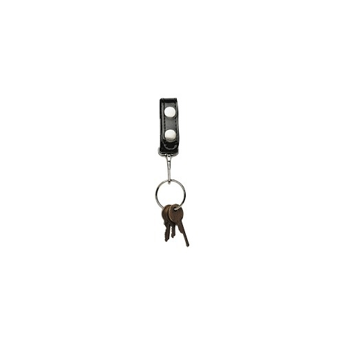 Boston Leather - BELT KEEPER KEY BLACK SNAP