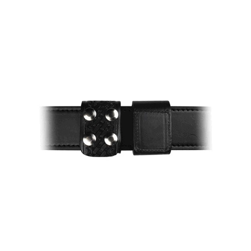 Boston Leather - DOUB WIDE KEEPER W/BLK SNAP BW
