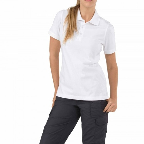 5.11 Tactical WoMen's Short Sleeve Tactical Polo - White - Large