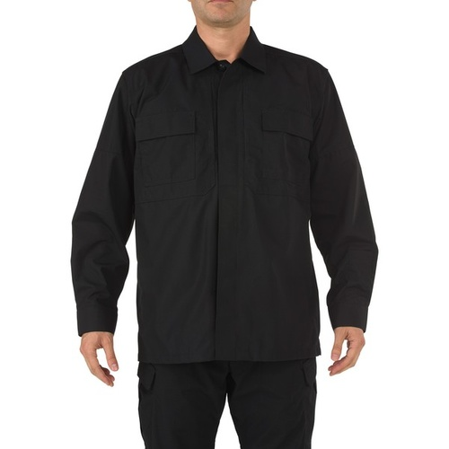 5.11 Tactical Ripstop Long Sleeve TDU Shirt - Black - 2X Large
