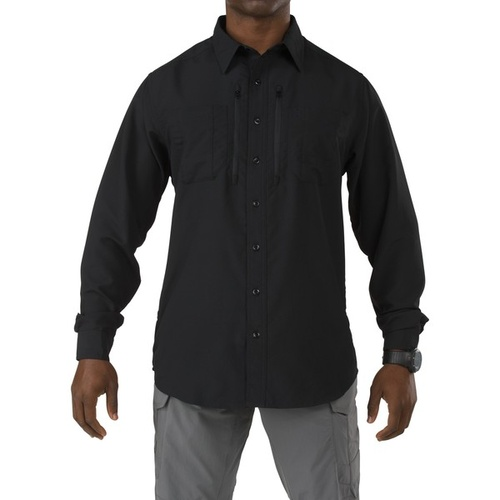 5.11 Tactical Traverse Long Sleeve Shirt - Black - 2X Large