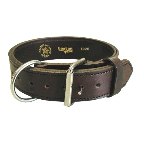 Boston Leather - DOG COLLAR AGITATION2  24  BLK