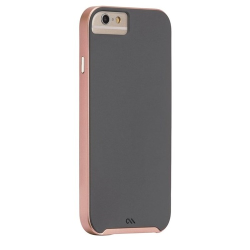 Case-Mate Slim Tough Case suits iPhone 6/6S - Dark Grey/Rose Gold