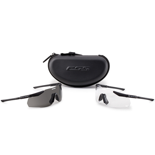Eye Safety Systems - ICE - 2X NARO - Clear/Smoke Gray