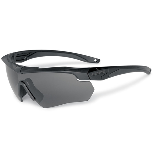 Eye Safety Systems - Crossbow - Black - Smoke Gray and Hi-Def Yellow Lens - Clear
