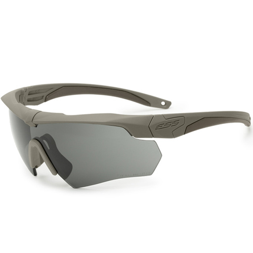 Eye Safety Systems - Crossbow - Terrain Tan - Clear and Smoke Gray Lens