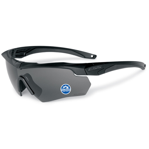 Eye Safety Systems - Crossbow - Black - Polarized Gray Lens