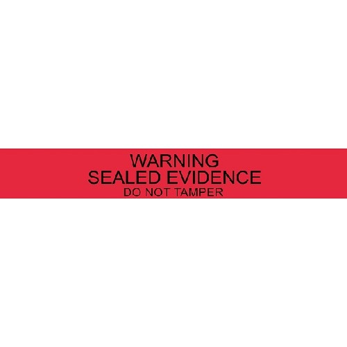 ARMOR FORENSICS - 7  RED WARNING SEALS (100)