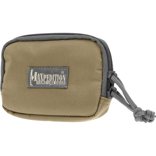 Maxpedition Hook-&-Loop 3 x 5 Zipper Pocket- Khaki Foliage