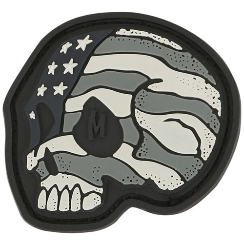 Maxpedition Stars and Stripes Skull 1.6in x 1.5in - SWAT