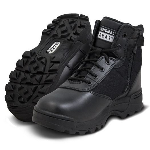 Original SWAT Classic 6in Waterproof Side-Zip Safety Boot - Black - Size 10.0 US