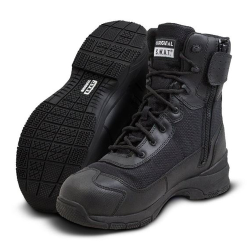 Original SWAT H.A.W.K. 9 Inches Waterproof Side Zip EN - Black - Size 10.5 US