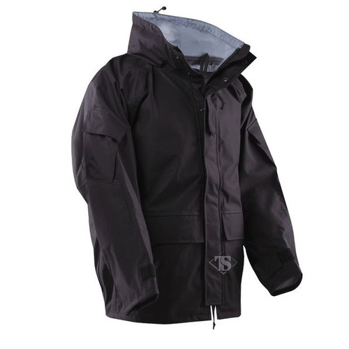 Tru-Spec H2O Proof ECWCS Gen-2 Parka 3-Layer Breathable Nylon - Black - Large
