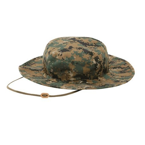 Digital Woodland Gen-Ii Adjustable Boonie Hat 50/50 Nylon/Cotton Rip-Stop
