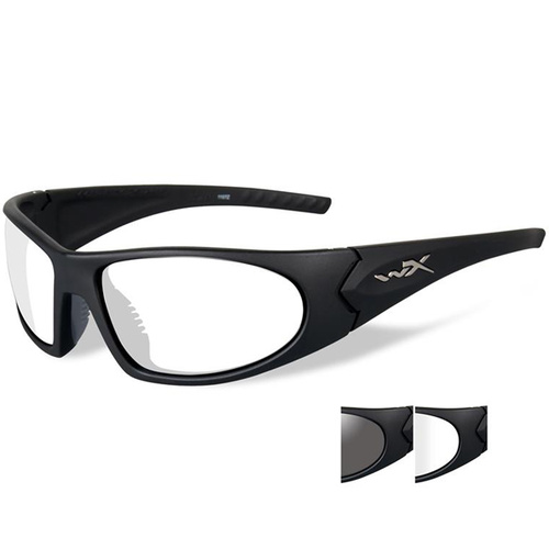 Wiley X Romer 3 with Smoke Grey & Clear Lens - Black Frame