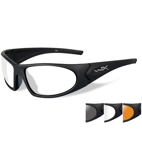 Wiley X Romer 3 with Smoke Grey/Clear/Light Rust Lens - Matte Black frame