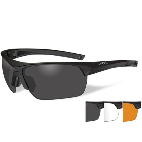 Wiley X Guard Advanced - Grey/Clear/Rust Lens - Matte Black Frame