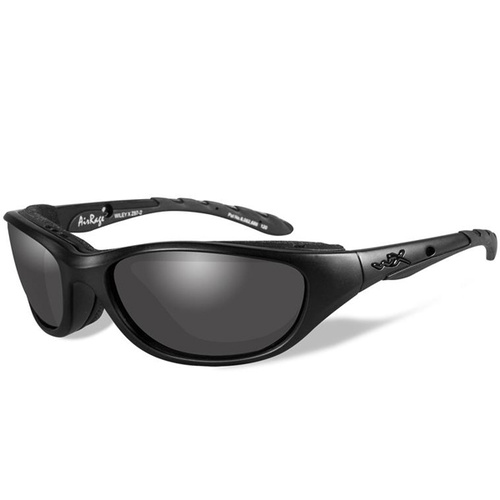 Wiley X Airrage Goggles - Gloss Black Frame - Smoke Grey