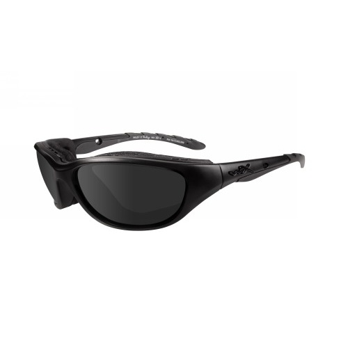 Wiley X Airrage Goggles - Gloss Black frame with Accessory