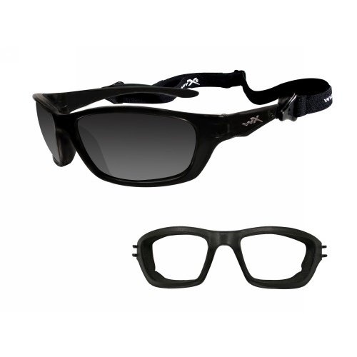 Wiley X Brick Glasses - Gloss Black Frame / Clear Lens
