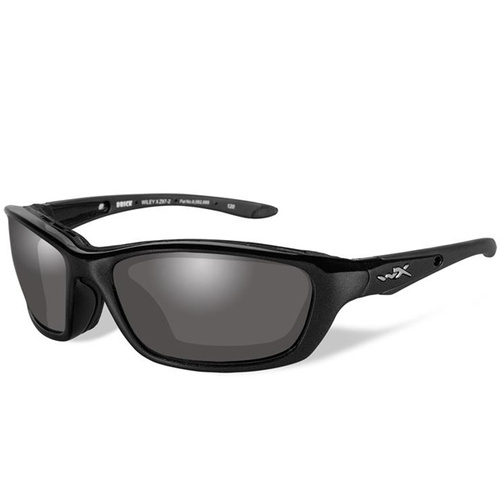 Wiley X Brick Glasses - Metallic Black Frame / LA Light Adjusting Grey Lens