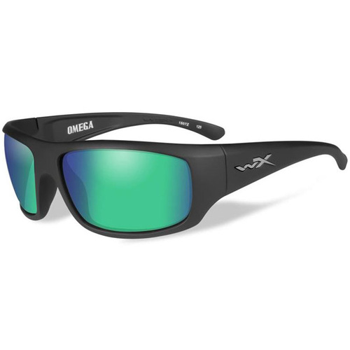 Wiley X Omega - Polarized Emerald Mirror Lens/Matte Black Frame