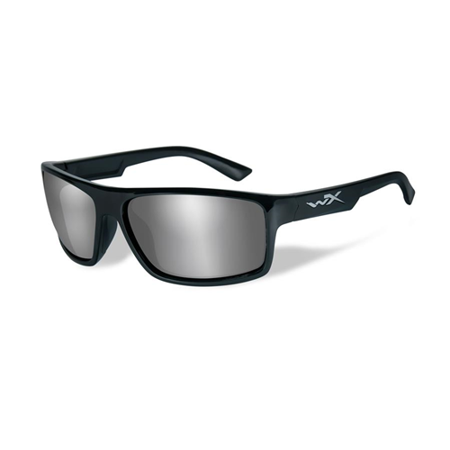 Wiley X Peak - Grey Silver Flash Lens/Gloss Black Frame