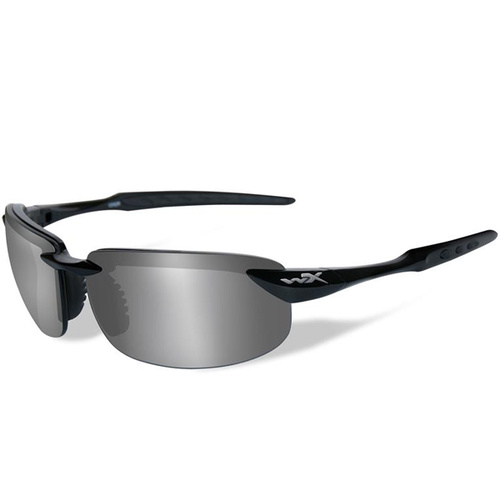 Wiley X Tobi - Polarized Silver Flash /Gloss Black
