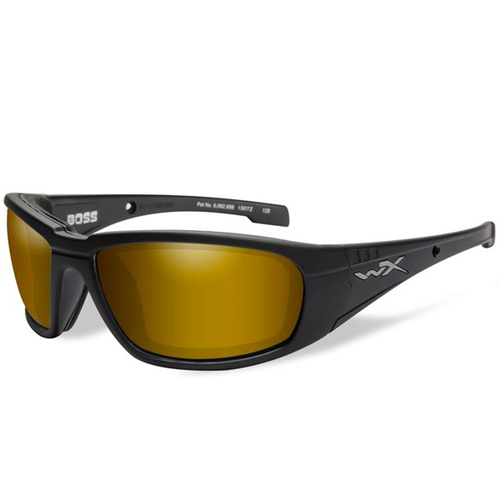 Wiley X Boss - Polarized Venice Gold Mirror/Matte Black Frame