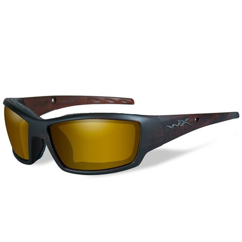 Wiley X Tide - Polarized Venice Gold Mirror/Matte Hickory Brown