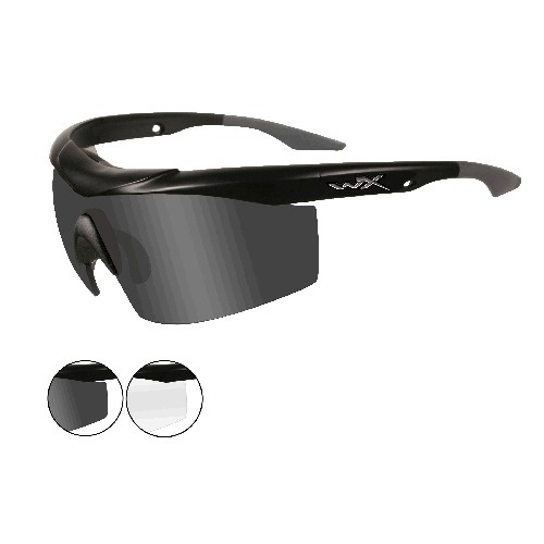 Wiley X Talon Glasses - Matte Black Frame with Accessory