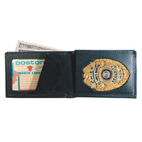 Boston Leather - Billfold Style Badge Wallet