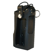 Boston Leather Radio Holder - Plain - Black