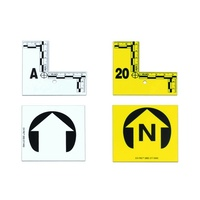 ARMOR FORENSICS - L-SHAPED FLAT ID MARKERS 1-20 YELLOW,