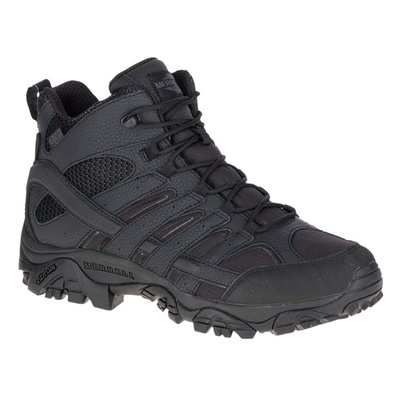 Merrell Tactical Men's MOAB 2 Mid Tactical Waterproof Boots - Black