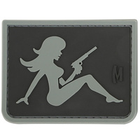 Maxpedition Mudflap Girl 2.26in x 1.73in - Stealth