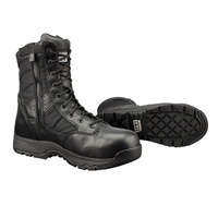 Original SWAT Metro 9 Inches Womens Waterproof Side Zip Safety Boot - Black
