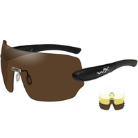 Wiley X Detection - Clear/Yellow/Copper Lens - Matte Black Frame