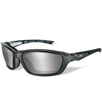 Wiley X Brick - Silver Flash Lens - Crystal Metallic Frame