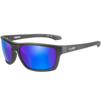 Wiley X Kingpin - Polarized Blue Mirror Lens - Matte Graphite Frame