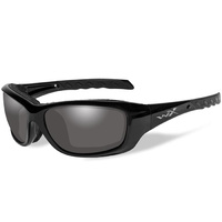 Wiley X Gravity Glasses - LA Light-Adjusting Smoke Grey Lens / Gloss Black Frame