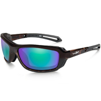 Wiley X Wave - Polarized Emerald Mirror Lens - Gloss Demi Frame