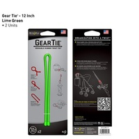 "Nite-Ize Gear Tie 12""- 2 Pack - Lime"