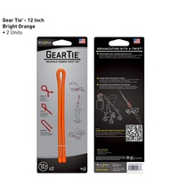 "Nite-Ize Gear Tie 12""- 2 Pack - Bright Orange"
