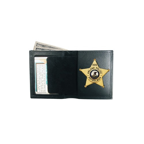 Boston Leather - BOOK STYLE WALLET BADGE CASE R